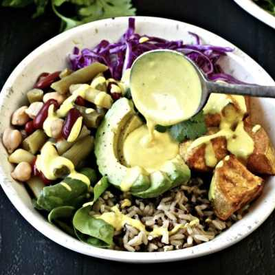 Buddha Bowl with Turmeric Tahini Sauce Plus a Giveaway