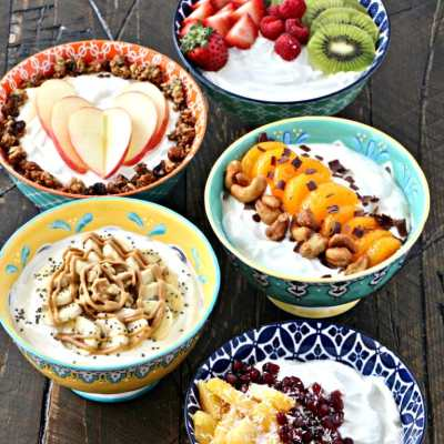 Healthy Greek Yogurt Bowls
