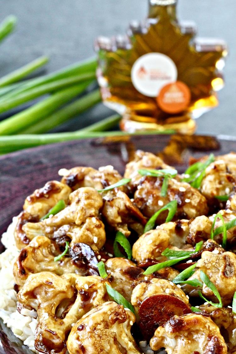 Crispy Baked Sweet & Sour Cauliflower