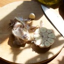 Roasting garlic