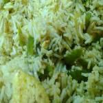 Bell Pepper-Paneer Rice