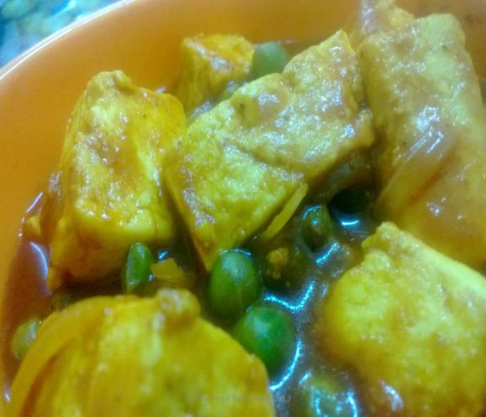 Matar Paneer Dhaba Style(Peas and Cottage Cheese)