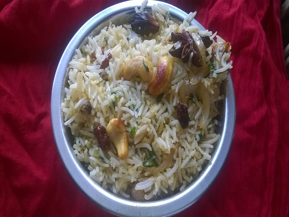 Palak Rice(Rice with Spinach)