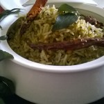 Curry Leaf Rice/Kari Patta Chawal/Karivapalai Saadam