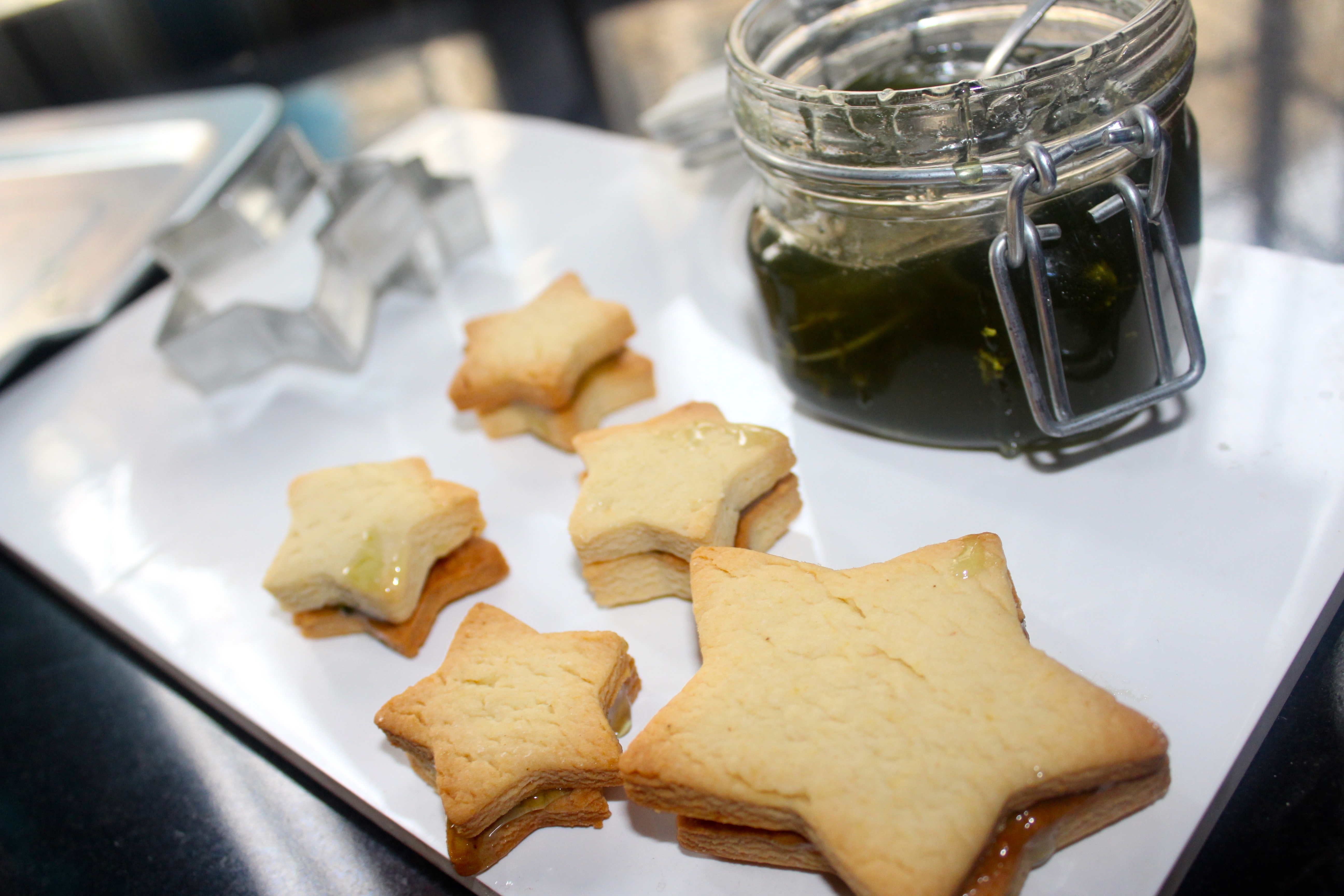Jelly filled Star Cookies