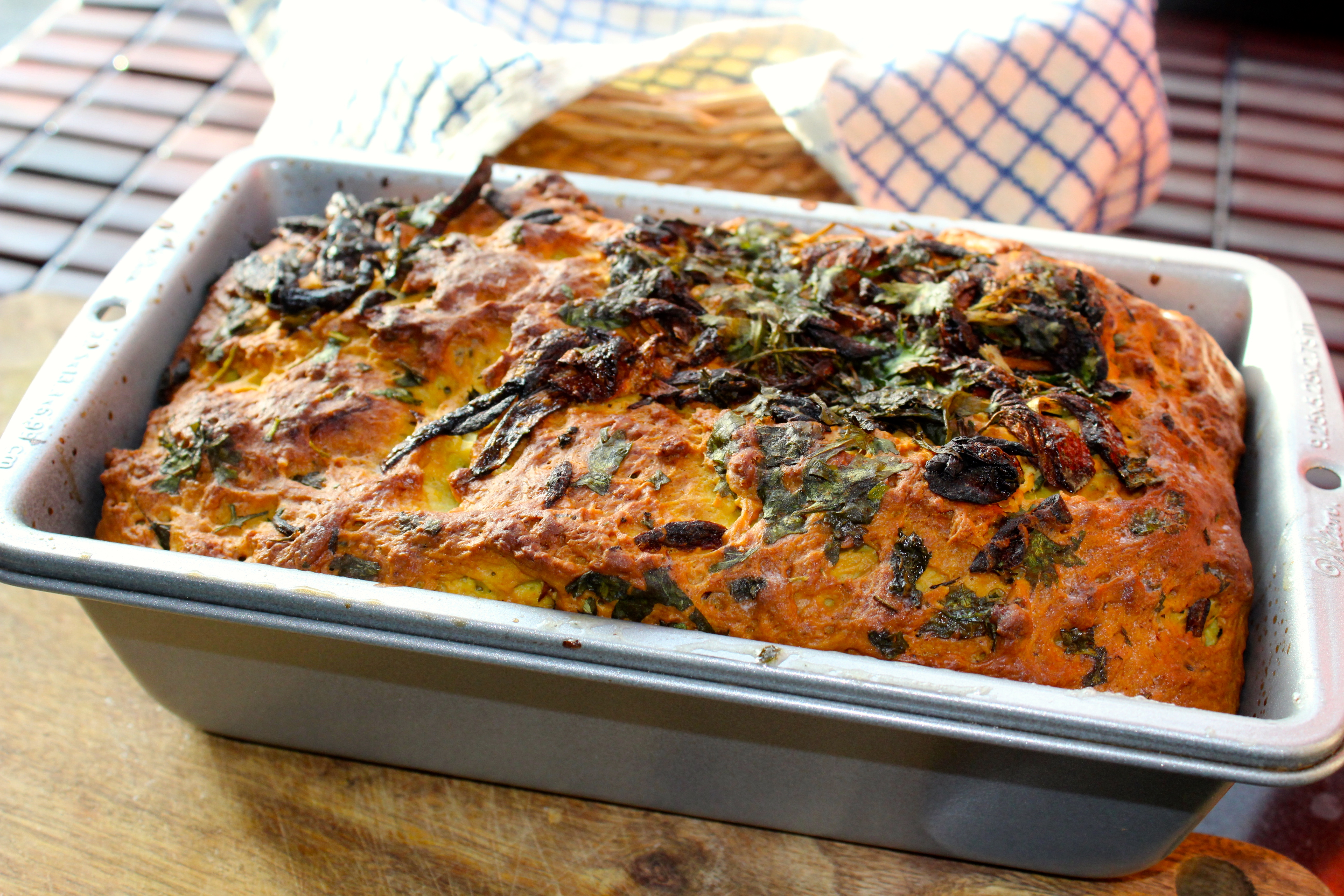 Herbed Masala Bread (Basic Bread in an Indian spice avatar)