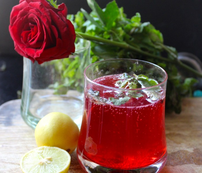 Rose Lime Soda – A refresher for summers!