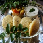 Kanchipuram/Kanjeevaram Idli (Lentil and Rice Savoury Cakes)