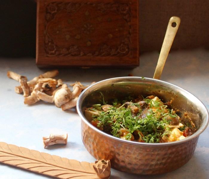 Dhingri Dulma (an Awadhi recipe from the Nawab's Kitchen)