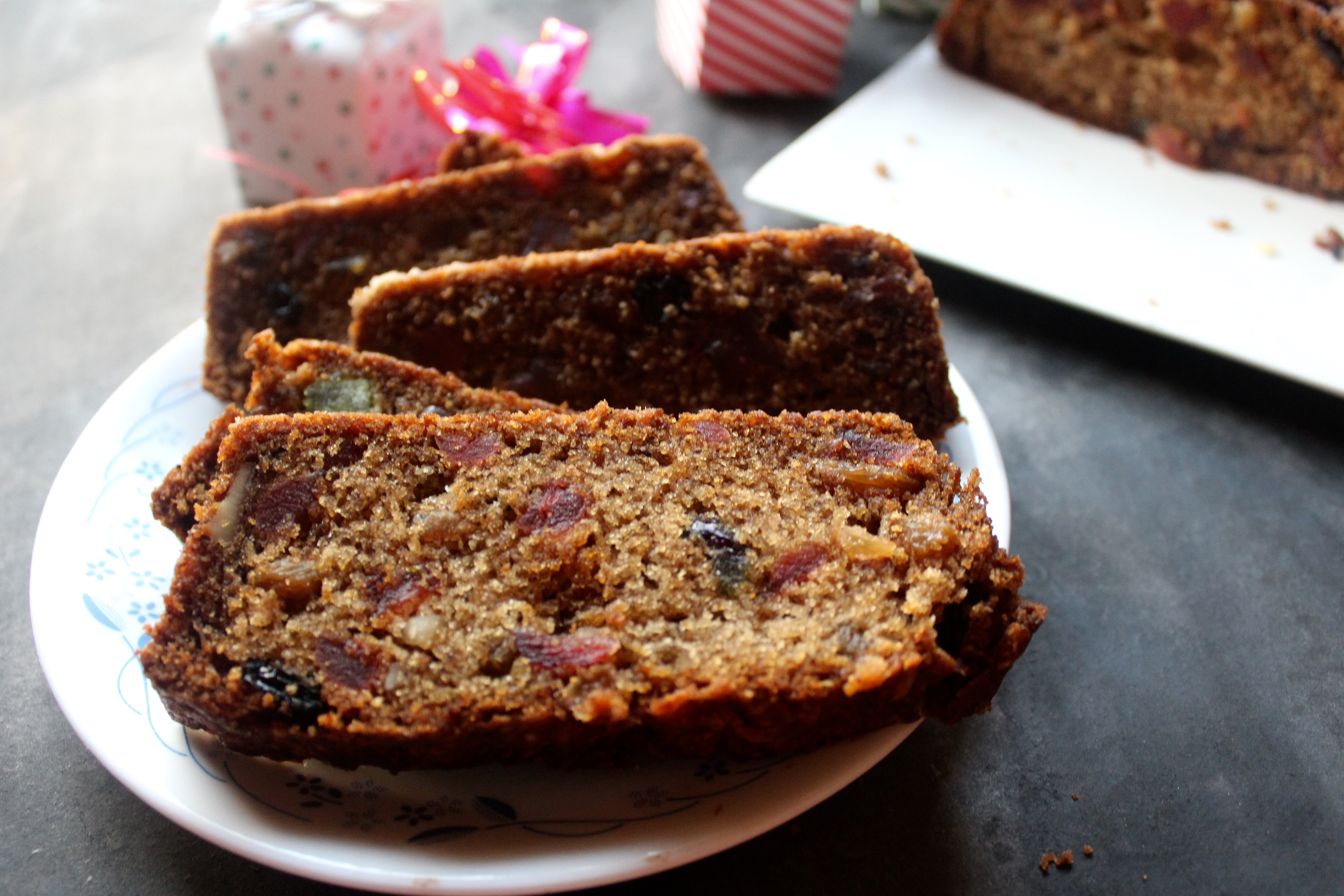 Eggless Christmas Cake (with Buttermilk)