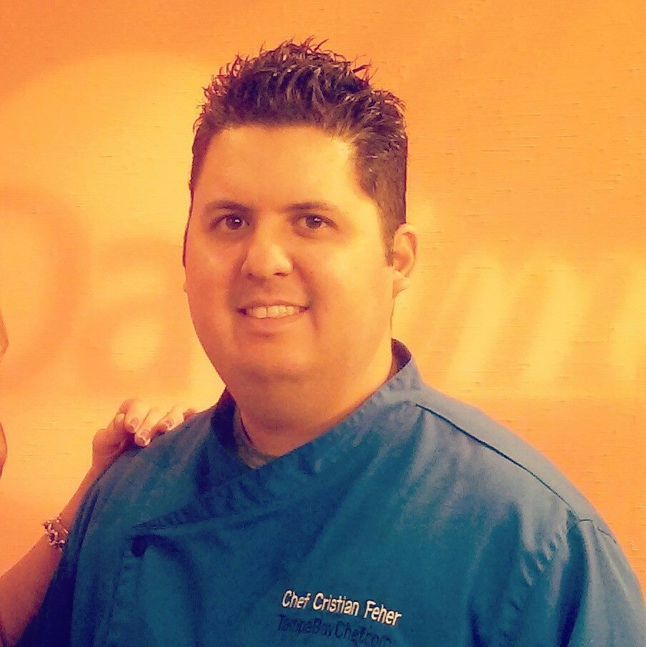 Chef Cristian Feher food stylist in Tampa Florida.