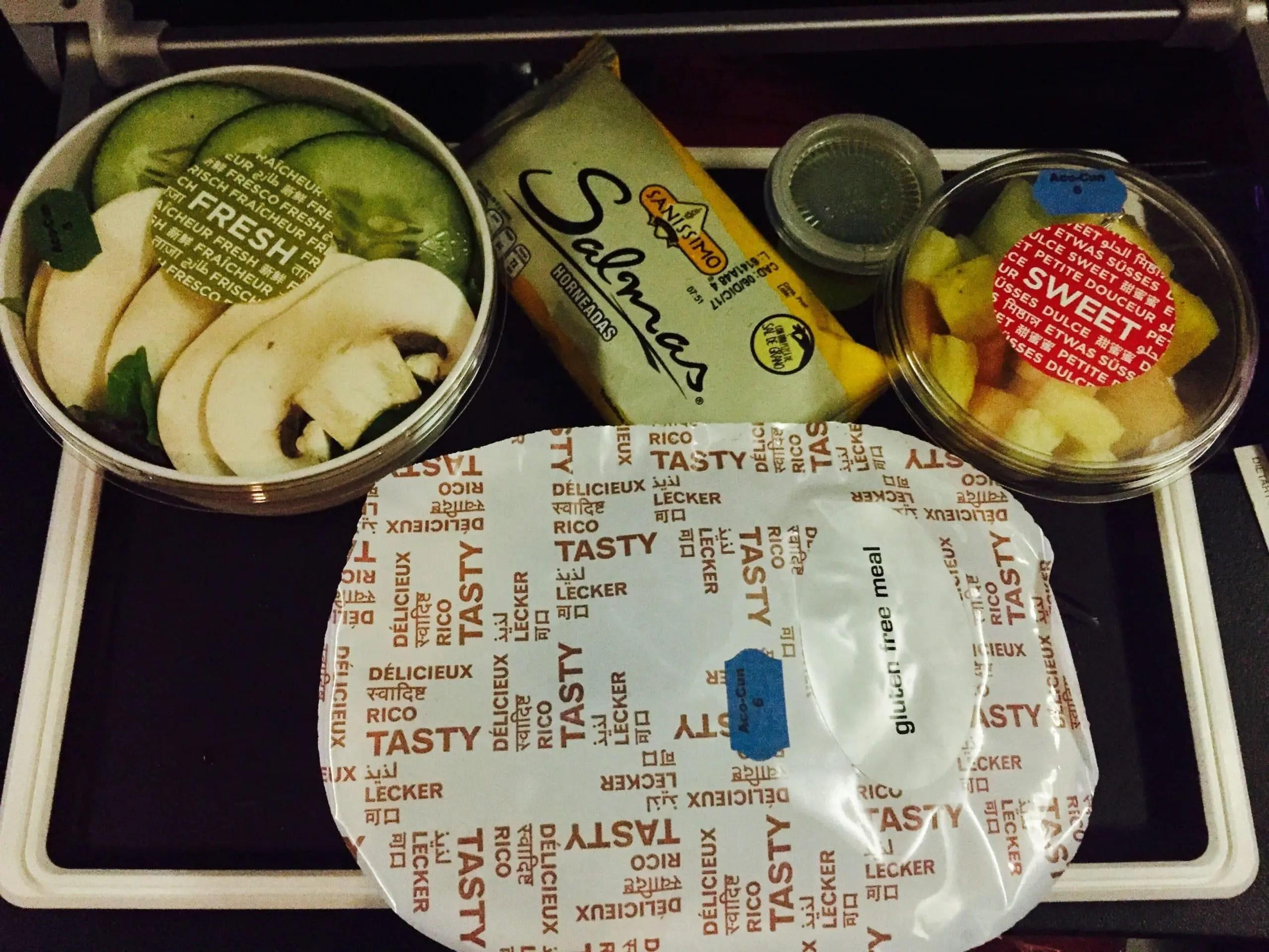 gluten free airplane food