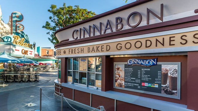 Cinnabon menu and prices