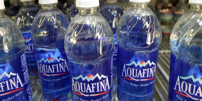 Aquafina water prices
