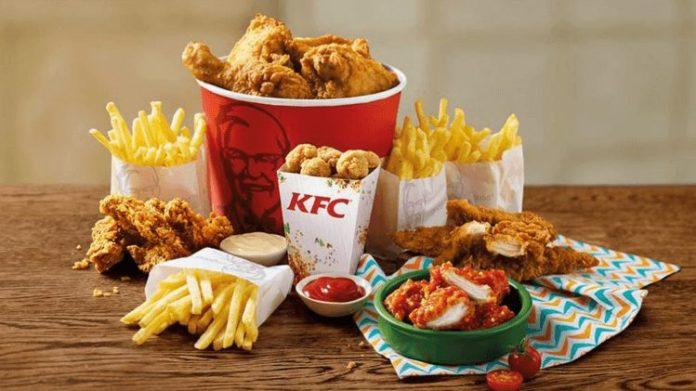 food from KFC menu