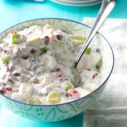 Waldorf Salad recipe with whipped cream