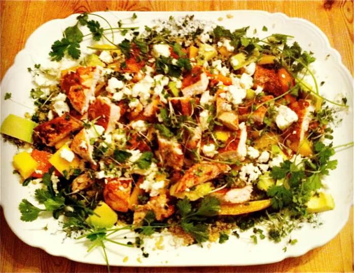 Blackened Chicken with Quinoa Salad Recipe