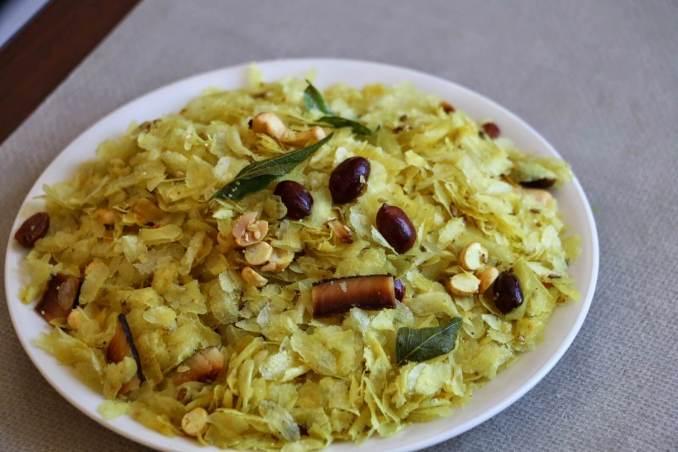 Roasted Poha Chivda Recipe