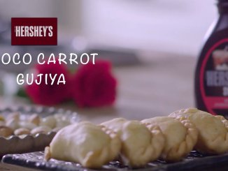 Choco-Carrot Gujiya Recipe