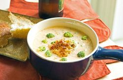 Broccoli Beer Cheese Soup recipe