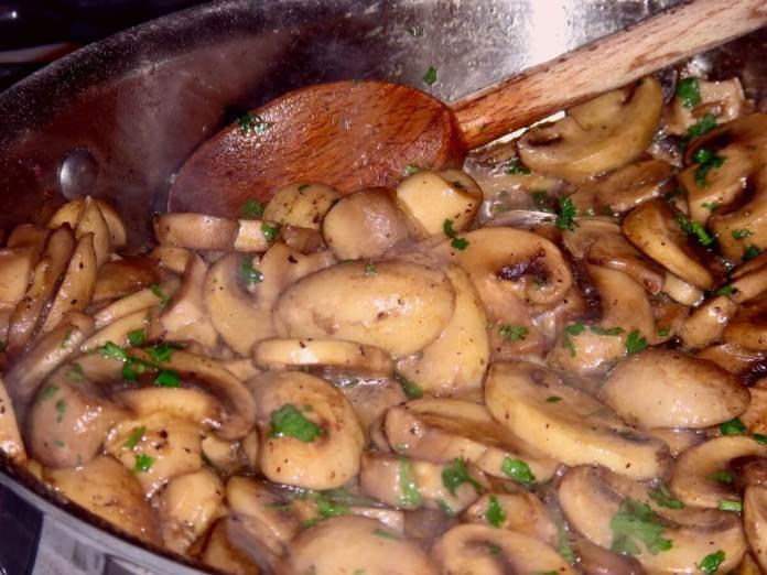 Stewed Mushrooms recipe