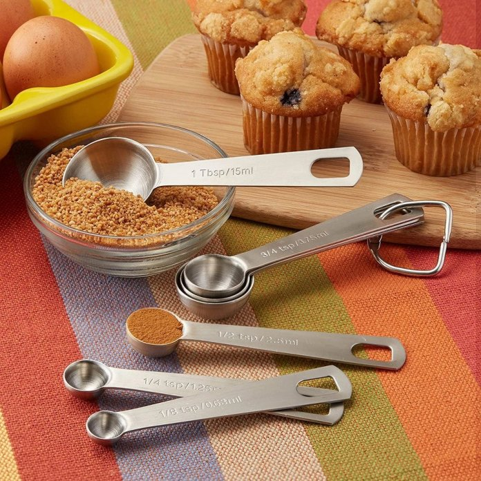 Spring Chef Heavy Duty Stainless Steel Metal Measuring Spoons