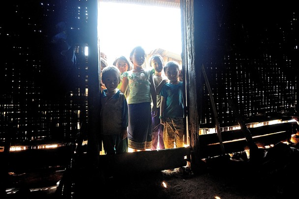Curious Kids in Laos