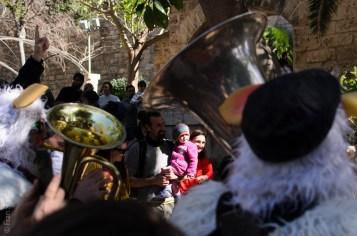 Cercavila amb els caparrots del Museu de sa Jugueta i Montserrat