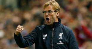 Jurgen Klopp celebrates for Liverpool
