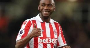 Sadio Berahino playing for Stoke City