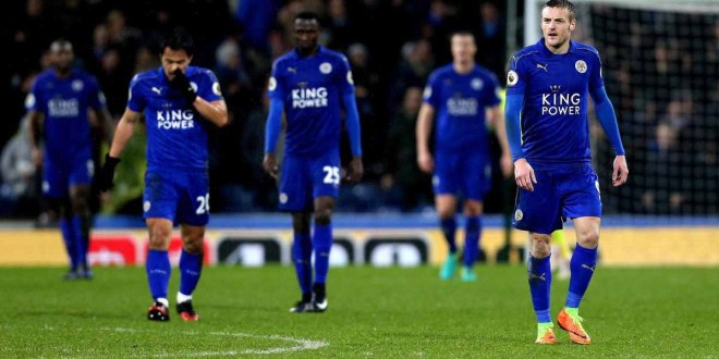 Leicester City have their heads down after conceding a goal