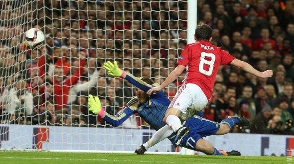 Juan Mata gives Man Utd the lead against FC Rostov to help them progress to the Europa League quarter finals