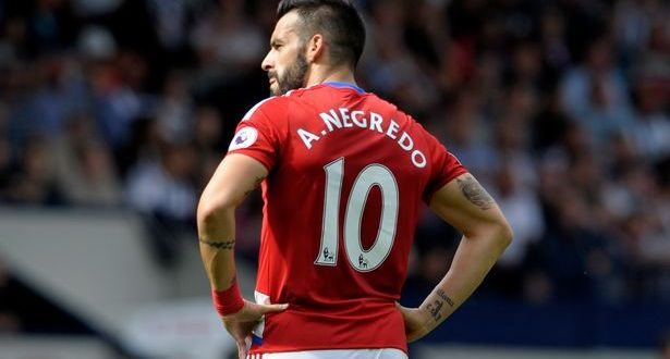 Middlesbrough striker Alvaro Negredo