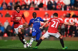 Ander Herrera and N'Golo battle as Man Utd beat Chelsea at Old Trafford