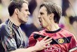 Jamie Carragher and Gary Neville, Manchester United v Liverpool