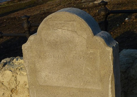 Headstone of Robert Bond
