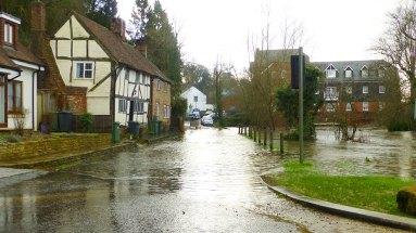 Closed road at Eashing