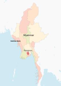 Map Myanmar - Rakhine State