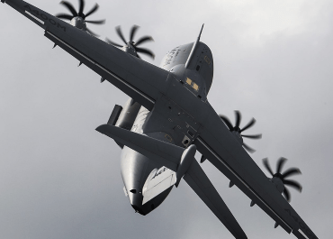 An A400M at the Royal International Air Tattoo (RIAT) 2014 at Fairford, one of the largest Airshows in the UK
