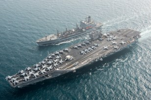 The Foreign Analyst - USS Harry S. Truman participates in a replenishment-at-sea with fleet replenishment oiler USNS Pecos