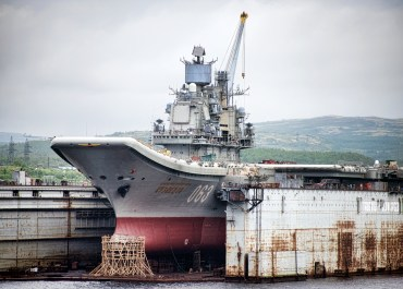 The Russian Aircraft Carrier, the Admiral Kuznetsov