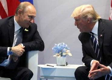 Putin and Trump 2017 Hamburg G20