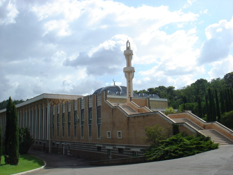 The mosque of Rome, the biggest mosque of the Western world