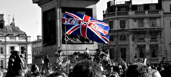 uk flag terrorism protest london