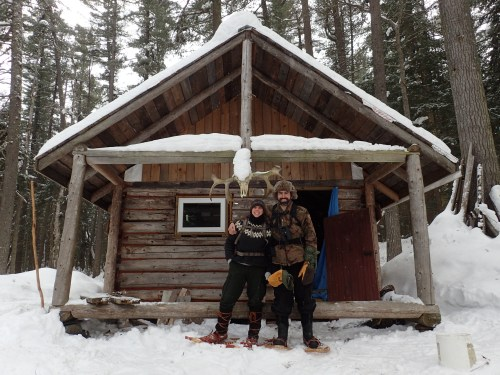 Deneen and I at the Chit lake rangers cabin