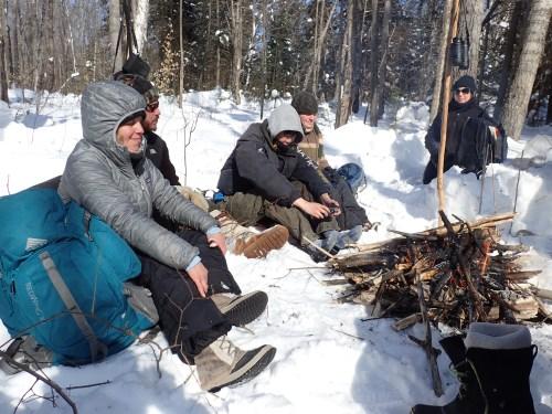 Lunck time campfire