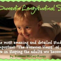 """The Dunedin Longitudinal Study""...one of the most amazing and detailed studies EVER of how important ""The Forever Years"" of childhood are in shaping the adults we become.  By Kirsteen McLay-Knopp"