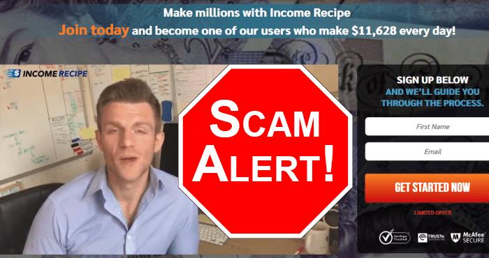 Income Recipe Website