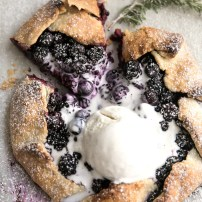 Rustic Blackberry and Rosemary Galette