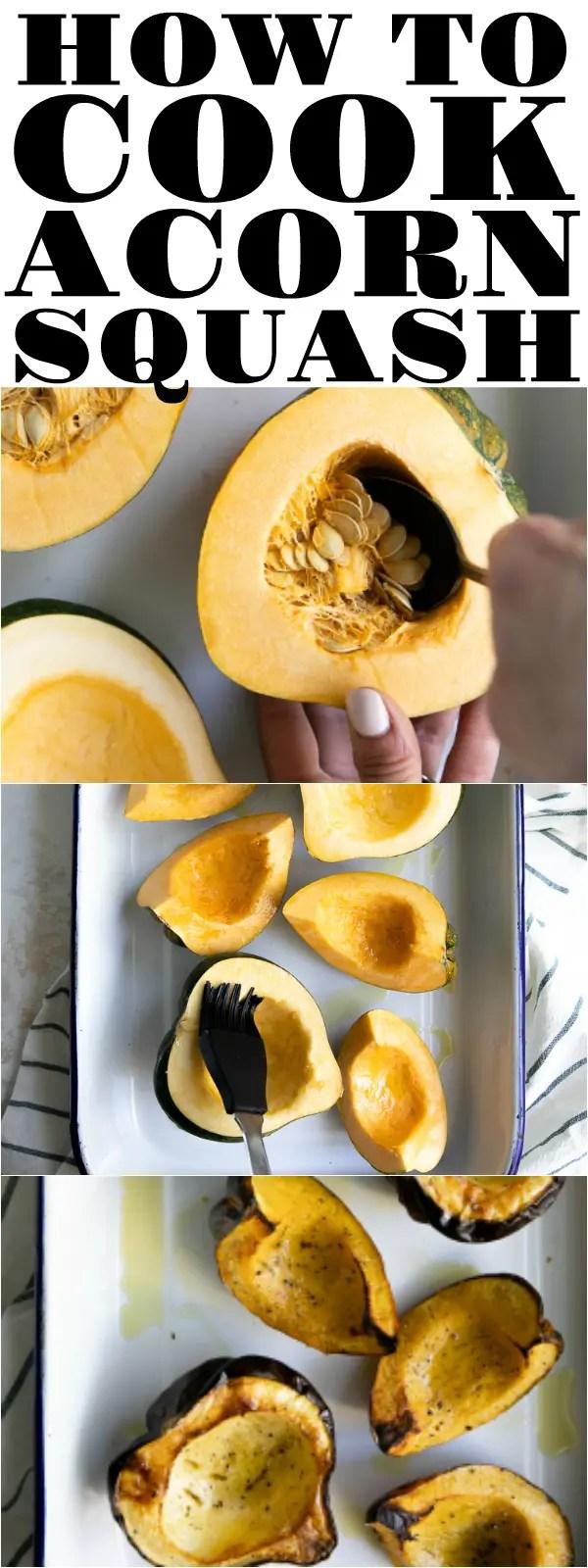 How to Roast an Acorn Squash #acornsquash #squash #howtocookacornsquash #bakedsquash #vegetarian #easyrecipe   For this recipe and more visit, https://theforkedspoon.com